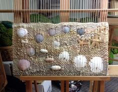 Dimensional Weaving - Martina Celerin 3D fiber art: Beach Dreams