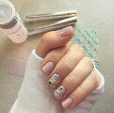 Love this Jamberry accent nail combo!!! Gelato + Daydream. Jamberry nail wraps