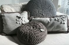 My Brand by Barbara Mets Kussen Vilt/gehaakt Grijs | Authentique MignonAuthentique Mignon