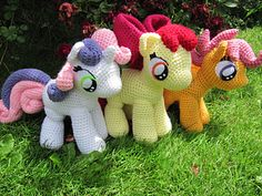 My Little Ponies Crochet @Rachel Chartrand