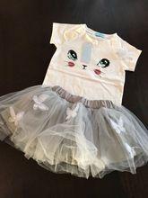 Интернет-магазин Keelorn Платье для девочек 2017 брендовая детская одежда белая футболка с короткими рукавами с рисунком + фатиновое платье одежда из 2 предметов для маленьких девочек 2-6 лет   Aliexpress для мобильных