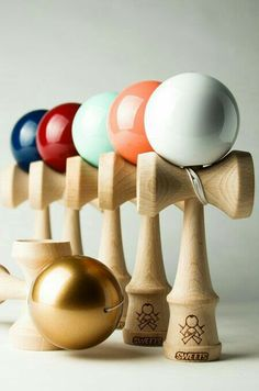 Standard Size Eclipse Kendama Red Fire Marble Rubber Finish Kendamanation