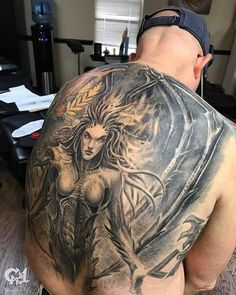 2b73ab076ab02 Kerrigan Starcraft Back Piece | @tattoosbycapone | Cap1 Tattoos Kerrigan  Starcraft, Full Back Tattoos