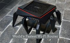 Asus has launched World's fastest wireless Wi-Fi router that would offer the fastest connection speed ever. Router Box, Modem Router, Wireless Router, Wifi Router, Cable Companies, Hacker News, Cable Modem, Internet