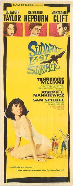 """Suddeniy Last Summer (1959)...year I was born...guess I am """"Vintage"""""""
