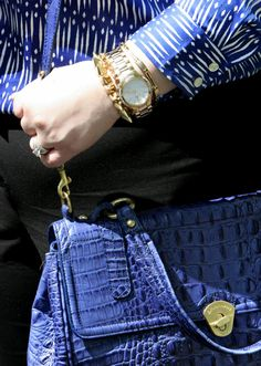Wardrobe Oxygen: Business Blue featuring @Ann Taylor @Brahmin