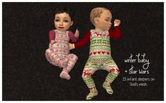 Non-Default infant outfits in time for Christmas and Star Wars! DOWNLOAD (skell mesh included; Chris Hatch mod required)