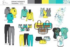It is a spring active wear collection for women Fashion Sketchbook, Fashion Sketches, Fashion Illustrations, Flat Sketches, Tech Pack, Fashion Portfolio, Children Images, Sport Chic, Sport Wear