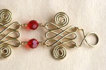 Step 24 to instructions for making Double Spirals Jewelry Wire & Beads Jewelry Making Design