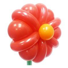 Простой цветок из воздушных шаров. Видео: https://youtu.be/8kgCERZkQn0 Цветы из воздушных шаров, flower from balloons