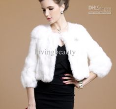 Wholesale Fur Coat - Buy Black Real Patched Rabbit Fur Coat Shawl Wrap S M L XL Orange Red Black White, $100.0 | DHgate
