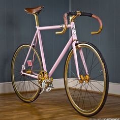 ...a pink/golden racing bike.