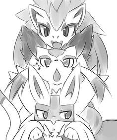 Tags: Anime, Fanart, Pokémon, Pixiv, Zoroark, Meinshao, Lucario