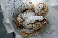 #Ricciarelli are a traditional Italian biscuit with origin in the Tuscan city of Siena dating to the 14th century.
