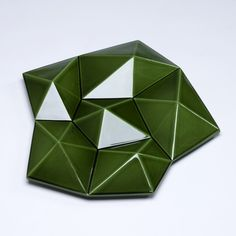 Bamakò table decoration glossy forest green | table | Products | Bosa ★