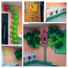 interesting use of balloons to make vbs decorations Bible Story Crafts, Bible Crafts For Kids, Vbs Crafts, Bible Stories, Day Camp Activities, Church Activities, Backyard Bible Camp, Big Backyard, Sunday School Decorations