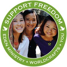 @WorldCrafts Support Freedom Stories {Eden Ministry ~ Asia} Eden Ministry and WorldCrafts have partnered together to provide more means for these women escaping the horrors of sex trafficking and exploitation. Each purchase through WorldCrafts of Eden's handcrafted goods provides hope, opportunity, and a new life with people who care deeply for these gifted women. #fairtrade #supportfreedom