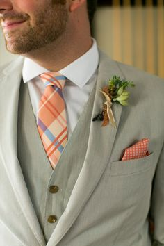 Barn Wedding Groom's Attire