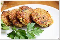 Two Tarts Spring Herb Quinoa Patties: with vegan cheese, a great idea for Passover instead of matzo