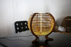 LED + wood with a laser cutter