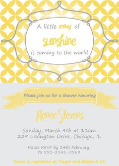 baby shower announcement sunshine baby showers baby invitations babies