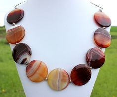Agate Statement Necklace by InspiredTheory on Etsy