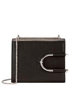 Mugler Horseshoe Detail Leather Shoulder Bag