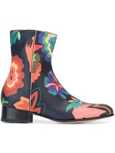 PAUL SMITH floral print boots. #paulsmith #shoes #boots