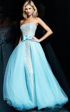 Shimmering Light Blue Sequined Long Dress With Layered Organza [Light Blue Sequined Long] - $236.00 : Cheap Prom Dresses, Bracelets, High Heels Online--DressinTrends