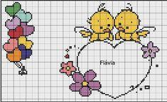 Cross Stitch For Kids, Knitting Charts, Love Birds, Baby Love, Cross Stitch Patterns, Hello Kitty, Crochet, Painting, Baby Cross Stitch Patterns