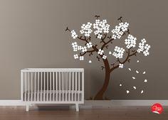 Modern Nursery Cherry Blossom Tree Wall Decal by CherryWalls, $93.00