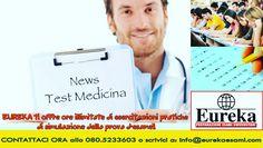Vuoi accedere alla Facoltà di Medicina?  Metti alla prova le tue conoscenze con le prove d'esame di Eureka!  Ti offriamo ORE ILLIMITATE DI ESERCITAZIONI PRATICHE di simulazione della Prova d'Esame!  Vieni a trovarci in Via Nicolai, 47 a Bari o contattaci a: info@eurekaesami.com - Tel. 080.523 3603 #Eureka #esami #preparazione #concentrazione #focus #labuonascuola