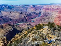The view from the historic Desert View Watchtower of the Grand Canyon