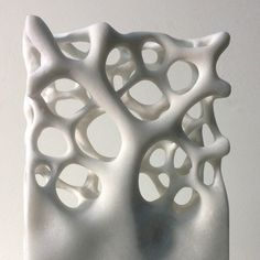 An exclusive Sculpture by Michael Kukla signed by the artist. Stone Sculpture, Sculpture Clay, Abstract Sculpture, Organic Structure, Organic Shapes, Ceramic Pottery, Ceramic Art, Organic Sculpture, Sculptures Céramiques