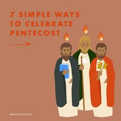 """Be A Heart on Instagram: """"Can you believe that Sunday is already Pentecost??? We are 50 days out from Easter (did you know Pentecoste means 50th in Greek?). - Swipe…"""" Pentecost, Roman Catholic, Days Out, Holy Spirit, Simple Way, Believe, Family Guy, Easter, Celebrities"""