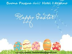 Gli auguri di Pasqua 2013 dell'hotel l'Aretino nella cartolina in italiano