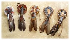 Native American Hair Ties, wonder if I can make them?                                                                                                                                                                                 More