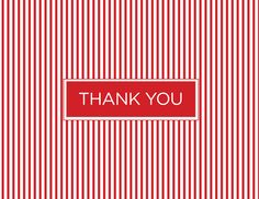 Red Pinstripe Thank You by Kelp Designs on Postable.com