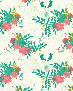 Floral patern design Lady Desidia for texitura