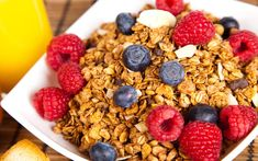 Plate Muesli Fresh Berries Stock Photo (Edit Now) 93390337 Nutrition Plans, Fitness Nutrition, Diet And Nutrition, Healthy Carbs, Healthy Eating, Food Combining, Food Words, Food Decoration, Calorie Intake
