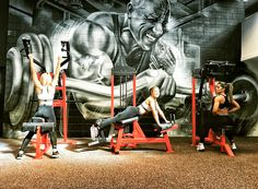 Let's get after it ladies. I'm always watching.  Thank you @nzmusclegym for the honor of this bad ass mural serving as inspiration for your members.  I used to live in New Zealand as a kid and whenever I go back, I'll do my best to stop by to clang and bang and drop some sweat with you guys and gals.  Congrats on your new opening, best of luck and stay strong. 💪🏾 #ForgedInIron #RockMural #NZMuscleGym
