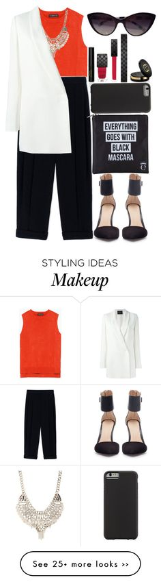 """TWLQ"" by krizan on Polyvore featuring Zara, Sportmax, Jane Norman, Gucci, Lanvin, Eyeko, Case-Mate and Dolce&Gabbana"