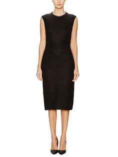 Helmut Lang - Trance binded sheath dress
