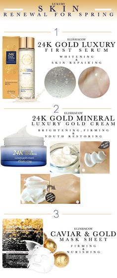 Are you ready to change your beauty routine? Here is the list of some affordable and high quality gold skincare products that can help skin renewal for spring!