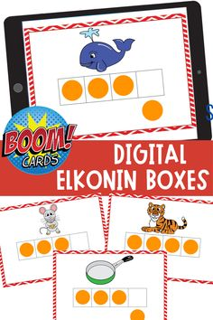 These digital task cards for phoneme segmentation are ideal for teaching phoneme segmentation during distance learning activities! Students move the chip for each sound in the word. The self checking feature of these Boom Task Cards makes this activity ideal for centers too! Kindergarten Reading Activities, Learning Activities, Literacy Skills, Early Literacy, Activity Centers, Literacy Centers, Phonemic Awareness Activities, Hands On Activities, Task Cards