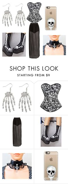"""""""halloween"""" by caitlin-ames-hopkins ❤ liked on Polyvore featuring Boohoo, Current Mood and Casetify"""