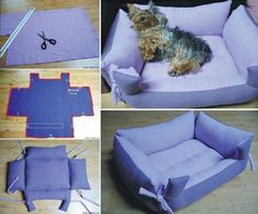 Find Pillow Pet Beds and more for your furbaby. We've included a doggy sweater and a denim jeans pet lap plus the best diy pillow pet beds. #HomemadePillow