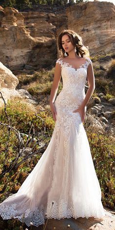 Most current Totally Free Sleeveless Double Shoulder Neck Appliqued Lace Wedding Dresses 2018 Mermaid/Trumpet Train Illusion bridal gown dress White Style Lovely Wedding Dresses ! The present wedding dresses 2019 includes a dozen different dresses in the Backless Mermaid Wedding Dresses, Sheer Wedding Dress, Wedding Dresses 2018, Perfect Wedding Dress, Wedding Dress Styles, Bridal Dresses, Lace Dresses, Lace Trumpet Wedding Dress, Mermaid Dresses