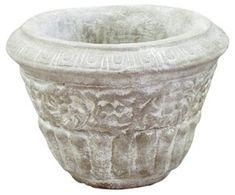 16 Round Aged Urn Weather Rosemary  C2 B7 Planter Pot Shapes