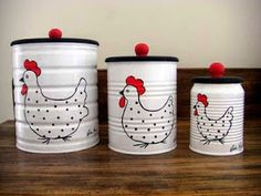 Ideias para reciclar latas e ajudar a natureza. Kein nosso dia dia na cozinha joga … - Gärtnern Coffee Can Crafts, Tin Can Crafts, Jar Crafts, Bottle Crafts, Home Crafts, Diy Home Decor, Diy And Crafts, Room Decor, Diy Recycling